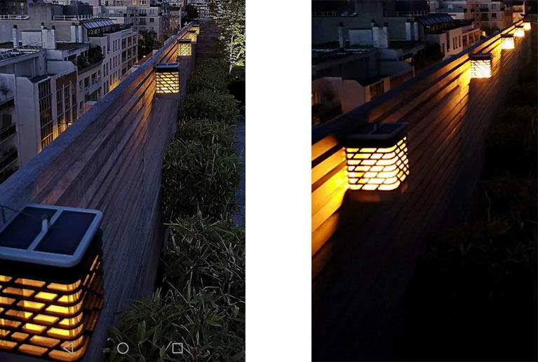 éclairage extérieur avec la lanterne solaire de jardin