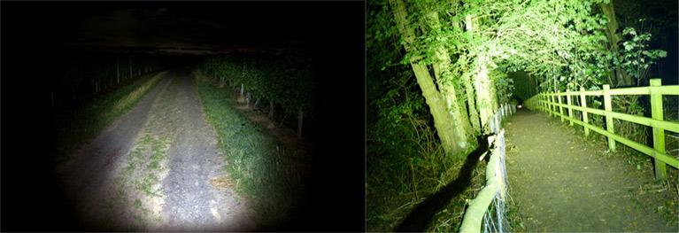 La meilleure lampe frontale rechargeable à 2000 Lumens se démarque largement de la lampe à 200 lumens!