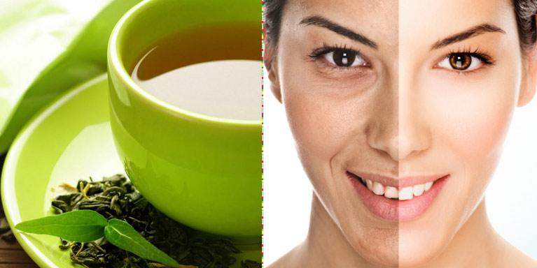 Boire du thé vert peut vraiment aider à ralentir le vieillissement de la peau